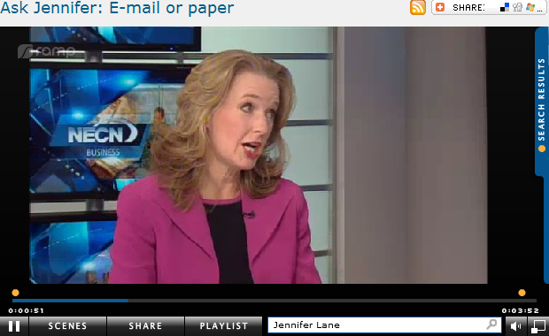 Ask Jennifer  E mail or paper