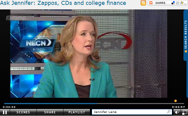 Ask Jennifer  Zappos  CDs and college finance