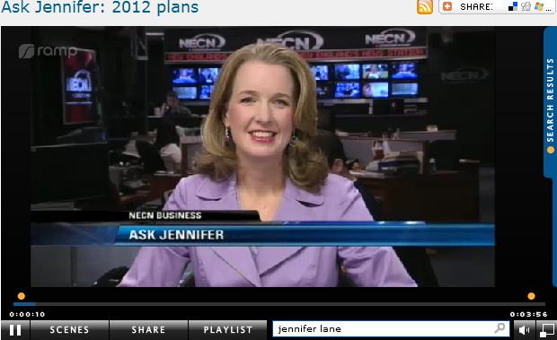 Ask Jennifer  2012 plans