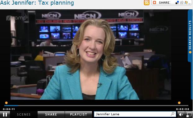 Ask Jennifer  Tax planning