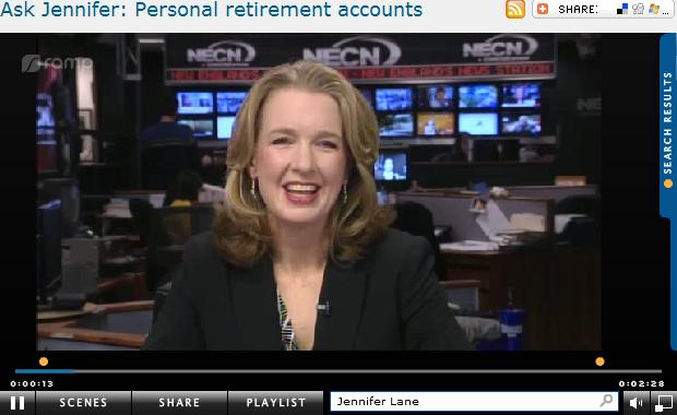 Ask Jennifer  Personal retirement accounts