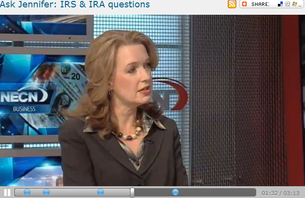 Ask Jennifer  IRS   IRA questions
