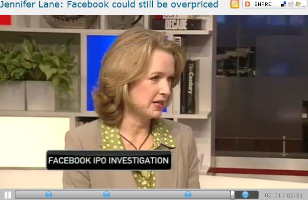 Jennifer Lane  Facebook could still be overpriced