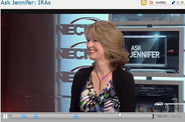 Ask Jennifer  IRAs