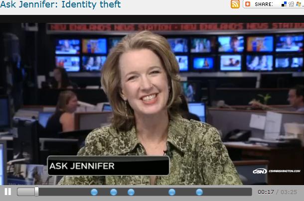 Ask Jennifer  Identity theft