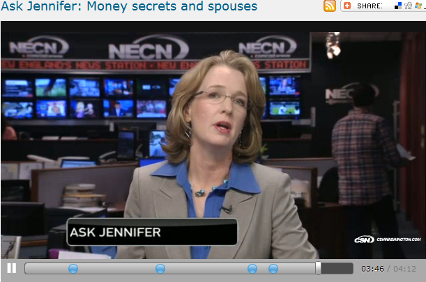 Ask Jennifer  Money secrets and spouses