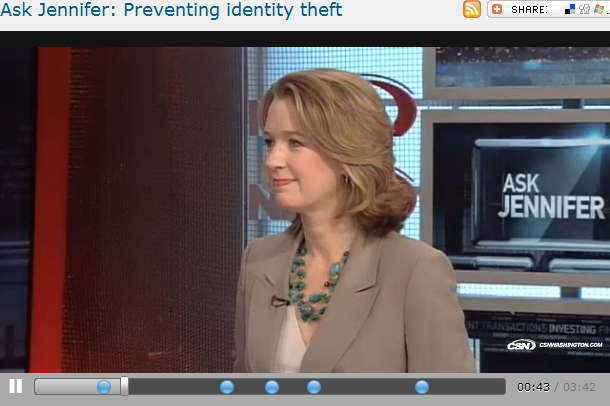 Ask Jennifer  Preventing identity theft