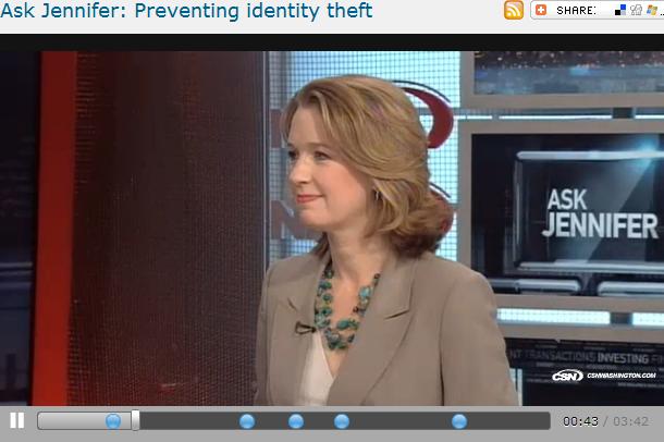 Ask Jennifer  Preventing identity theft