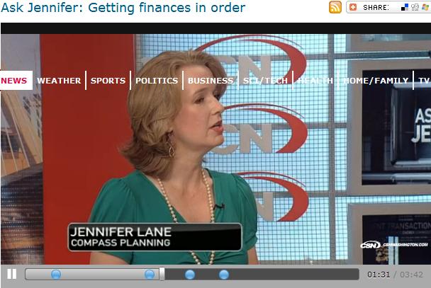 Ask Jennifer  Getting finances in order