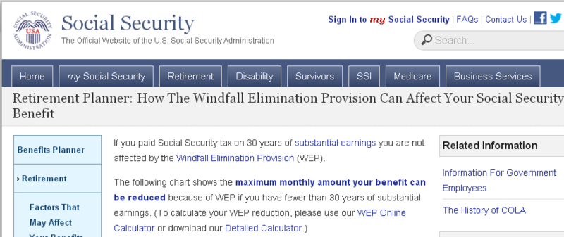 Retirement Planner  How the Windfall Elimination Provision Can Affect Your Social Security Benefit