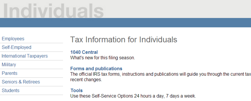 Tax Information for Individuals