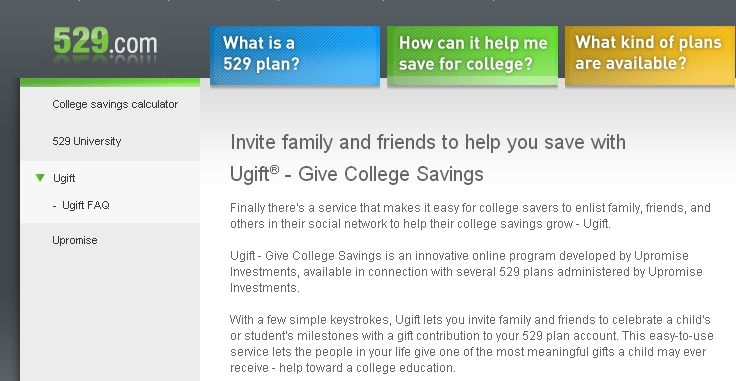 529.com   Ugift®   Give College Savings
